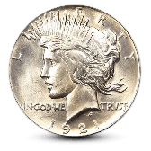 Silver Peace Dollar - AU - Random Year