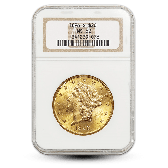 $20 Liberty Head Gold Double Eagle - NGC/PCGS MS62 - Random Year